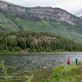 Fishing is close by at Haviland Lake Campground.- Haviland Lake Campground