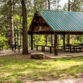 Covered pavillion in the day use area.- Junction Creek Campground