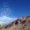 Red Cliffs as seen from the switchbacks.- Magee Peak