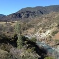 Looking upstream when approaching Thomes Creek. - Thomes Gorge