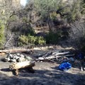 A good camping stop on the south side of the creek.- Thomes Gorge