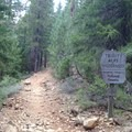 The Swift Creek Trail entering the wilderness.- Granite Lake + Seven Up Pass