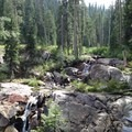 Small cascades on Granite Creek.- Granite Lake + Seven Up Pass