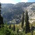Returning to Granite Lake.- Granite Lake + Seven Up Pass