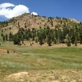 Red Mountain Meadow just south of Stonewall Pass.- Stonewall Pass + Echo Lake