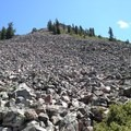 A broad scree slope en route to Black Butte.- Black Butte