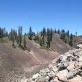 Near the halfway point of the trail.- Black Butte
