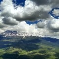 Mount Shasta is visible from Black Butte.- Black Butte