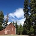 Historical buildings at the trailhead.- Rock Lake + Jamison Lake