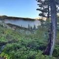 Morning fog.- Rock Lake + Jamison Lake