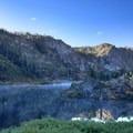 Jamison Lake in the morning.- Rock Lake + Jamison Lake