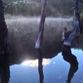 The sun rises over nearby Mount Elwell.- Rock Lake + Jamison Lake