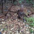 Mining equipment near the trailhead.- Rock Lake + Jamison Lake