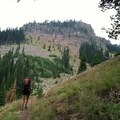 Ascending from the Minam River Valley.- North Catherine Creek Trail + Cartwheel Ridge Loop