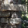 Signage for Ambush Point.- North Catherine Creek Trail + Cartwheel Ridge Loop