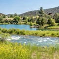 Fishing ponds by the river with the campground above.- Pa-Co-Chu-Puk Campground
