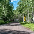 Entrance to Ouray Loop.- Silver Jack Campground