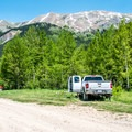Parking (and camping) near the Ironton town site.- Ironton + Colorado Boy Mine