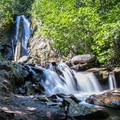 The waterfalls with a small pool for cooling off.- Hunter Creek