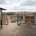 Evans Canyon Trailhead.- Evans Canyon/Miner's Trail Loop