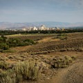 A short final descent looks over downtown Reno.- Evans Canyon/Miner's Trail Loop
