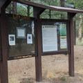 The Elden Lookout and Fatman's Loop Trailhead.- Fatman's Loop Trail
