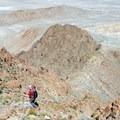 Returning from the summit of Volcano Peak.- Volcano Peak
