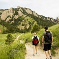 The trail is nearly flat near the NCAR Trailhead before the grade increases.- Bear Peak via Fern Canyon