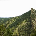 The sharp ridge of Green Mountain to the north of Bear Peak as viewed from the saddle.- Bear Peak via Fern Canyon