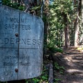 Entering the wilderness area.- Blue Lakes Trail Hike to Lower Blue Lake