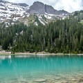 Lower Blue Lake is a wonderful turquoise color.- Blue Lakes Trail Hike to Lower Blue Lake