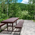 Many sites have wonderful views of the surrounding woods.- Jumbo Campground