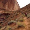 Climbing out of Coyote Gulch.- Coyote Gulch