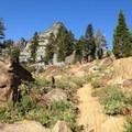 Approaching Seven Up Pass. - Granite Lake + Seven Up Pass