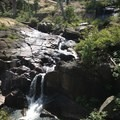 A small waterfall on Granite Creek. - Granite Lake + Seven Up Pass