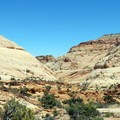From the Tanks Trail there are expansive views of the surrounding area.- Capitol Gorge to the Tanks