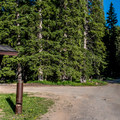 Campground entrance.- Spruce Grove Campground