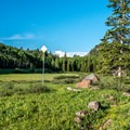 The meadow at the entrance to Spruce Grove Campground is perhaps it's best feature.- Spruce Grove Campground