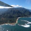 View to Tunnels Beach from a plane.- Tunnels Beach/Makua Beach