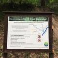 Signage at the trailhead.- Jewett Creek Watershed
