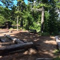 A typical site at Kinnikinnick Campground.- Kinnikinnick Campground