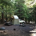 A typical campsite near the water.- Kinnikinnick Campground