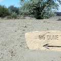 Several trails lead around and across the sand dunes.- Bruneau Dunes State Park