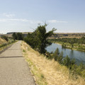A vantage point overlooking the Boise River.- Boise River Greenbelt