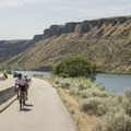 Cyclists enjoy the smooth path as it extends through the Diversion Dam and Black Cliffs areas.- Boise River Greenbelt