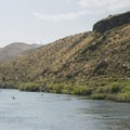 Paddlers enjoying the gentle flow of the Boise River near Lucky Peak State Park Discovery Unit.- Boise River Greenbelt