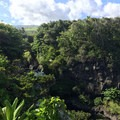 Another view of the top of the Sacred Pools from the 'Ohe'o Gulch Loop Trail.- Pīpīwai Trail Hike