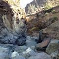 Inside Thomes Gorge.- Thomes Gorge