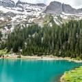 Lower Blue Lake.- Blue Lakes Trail Hike to Lower Blue Lake