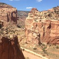 Grand Wash as viewed from the rim of the canyon.- Cassidy Arch